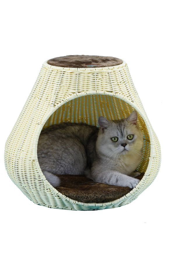 "16"" Rattan Wicker Cat Tree (SF087)"