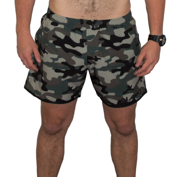 Men's Gym/Running Shorts - CAMO GREEN