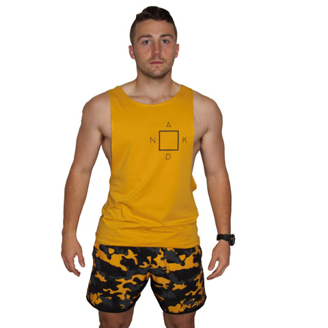 Men's Gym/Running Shorts - CAMO GOLD
