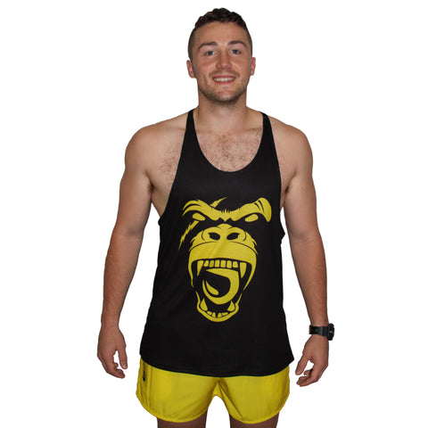 Men's Gym Singlet - BEAST YELLOW
