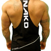 Men's Gym Singlet - DIAGONAL LOW CUT