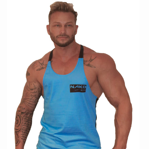 Men's Gym Singlet - POLY MARKED