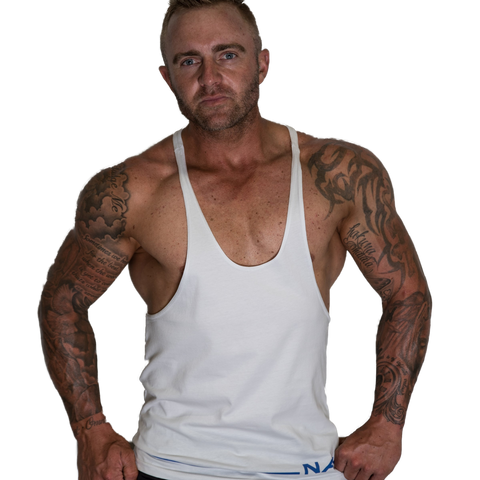 Men's Gym Singlet - LOW CUT STRAIGHT