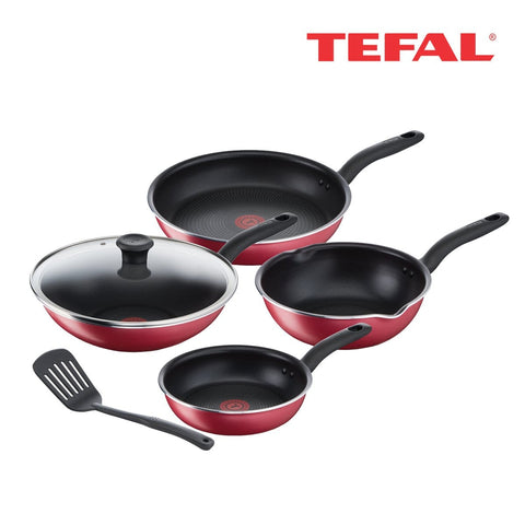 Tefal So Red 6pc Cookware Set