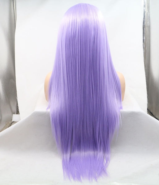 Kyliejenner's Purple Synthetic Lace Front Wig - Baskley