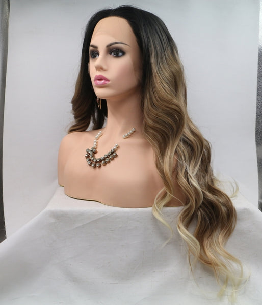 Macchiato Synthetic Lace Front Wig - Baskley
