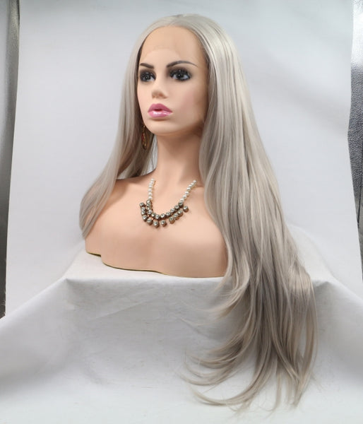 Silvermist Synthetic Lace Front Wig - Baskley