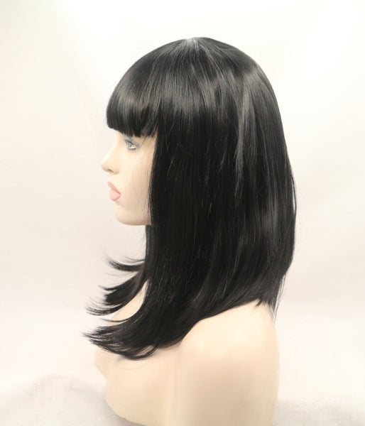 Elf Kiss Synthetic Lace Front Wig-Short Version - Baskley