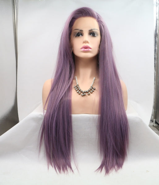 Purple Breeze Synthetic Lace Front Wig - Baskley