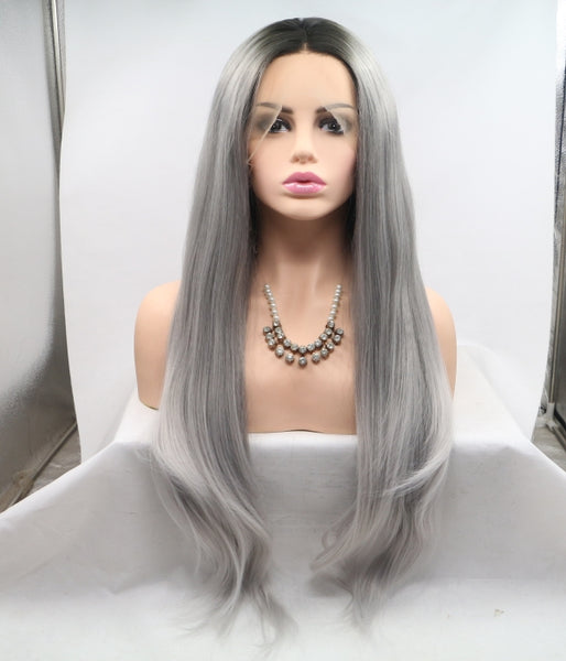 Smoky Dawn Synthetic Lace Front Wig - Baskley