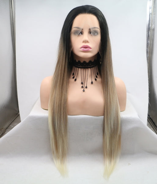 Macchiato Synthetic Lace Front Wig-Straight Version - Baskley