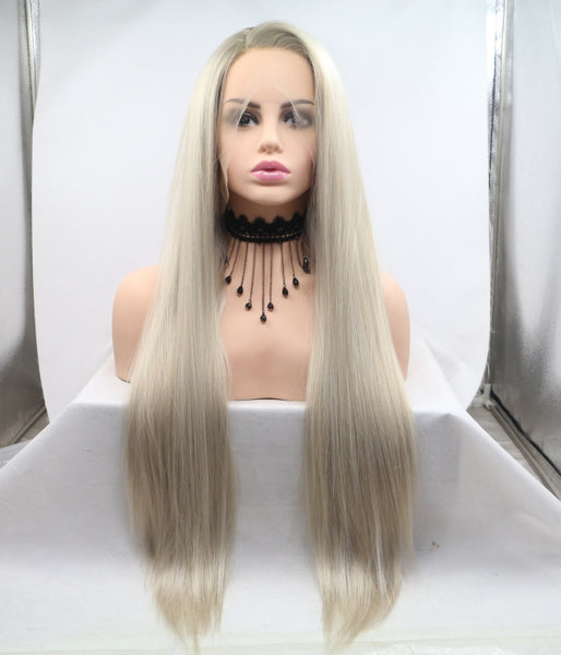 Beachy Blonde Synthetic Lace Front Wig - Baskley