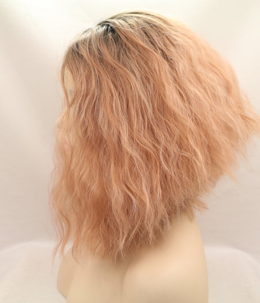 Peach Nectar Synthetic Lace Front Wig - Baskley