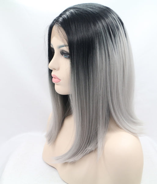Ashen Princess Synthetic Lace Front Wig - Baskley