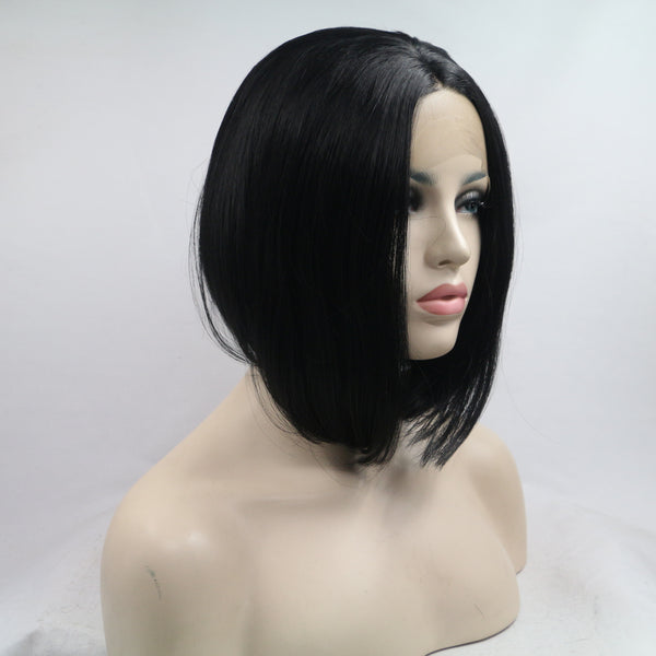 Dark Angel Bob Synthetic Lace Front Wig - Baskley