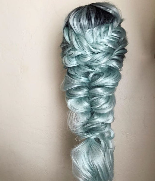 Mystical Mint Synthetic Lace Front Wig - Baskley