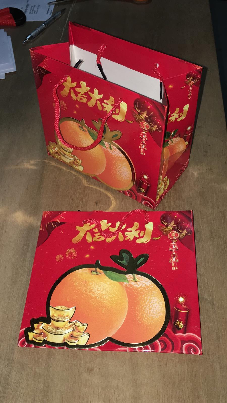 Mandarin orange bag (just the bag)