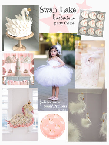 swan lake ballerina princess party theme