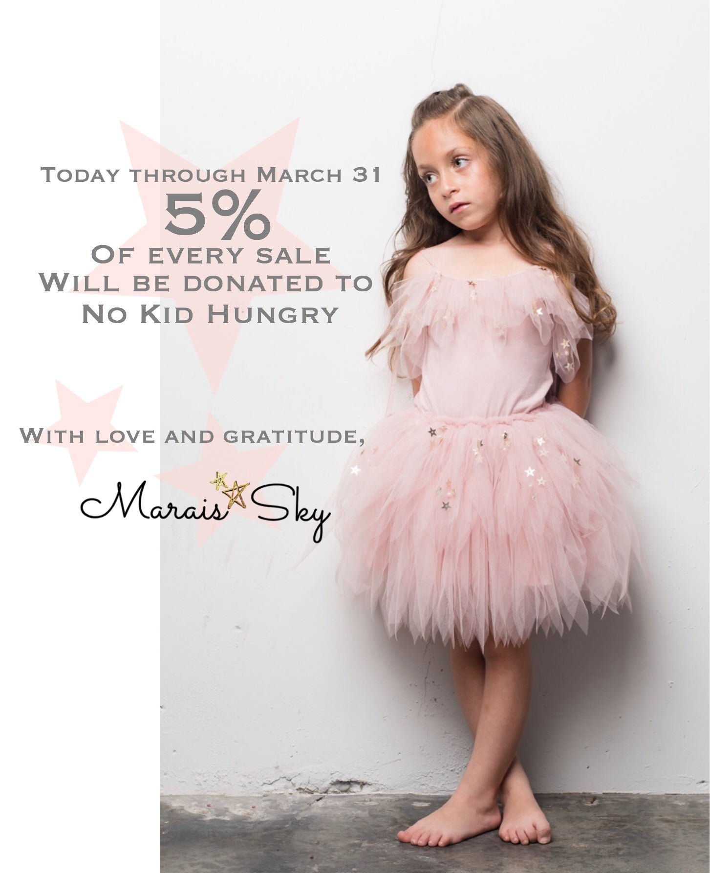 5 percent donation to no kid hungry