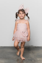 Stardust Bow Dress, Blush (Baby)