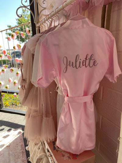 Personalized Satin Robe