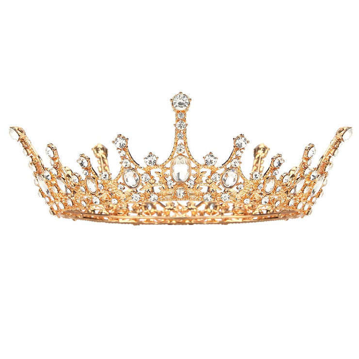 Regal Rhinestone Tiara Crown