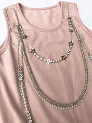 Jeweled Tunic Dress
