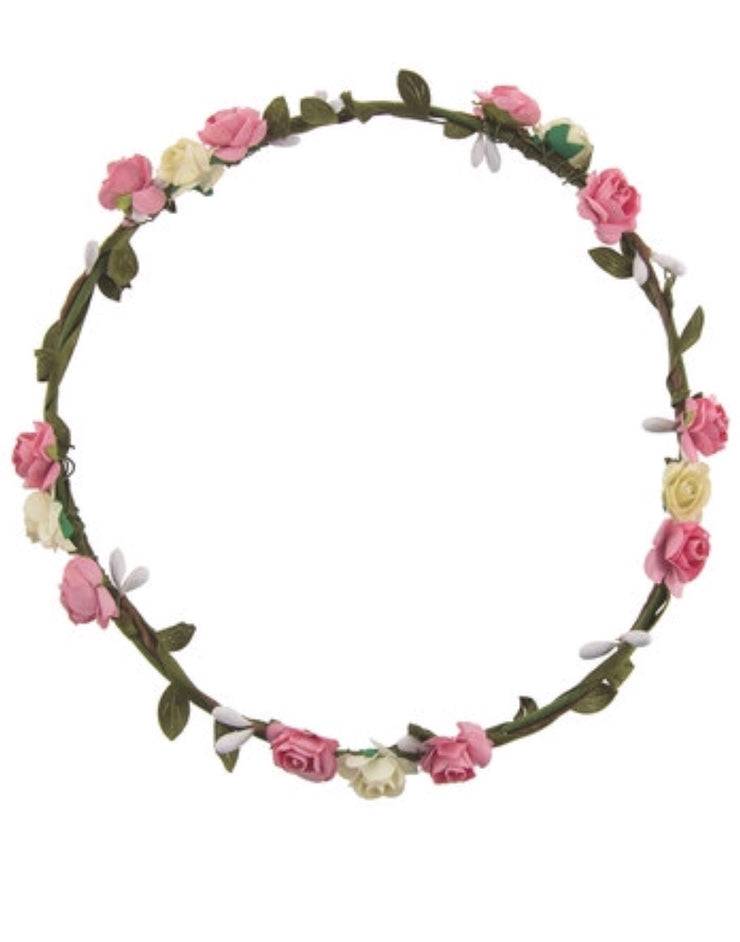 Pink and Cream Flower Crown