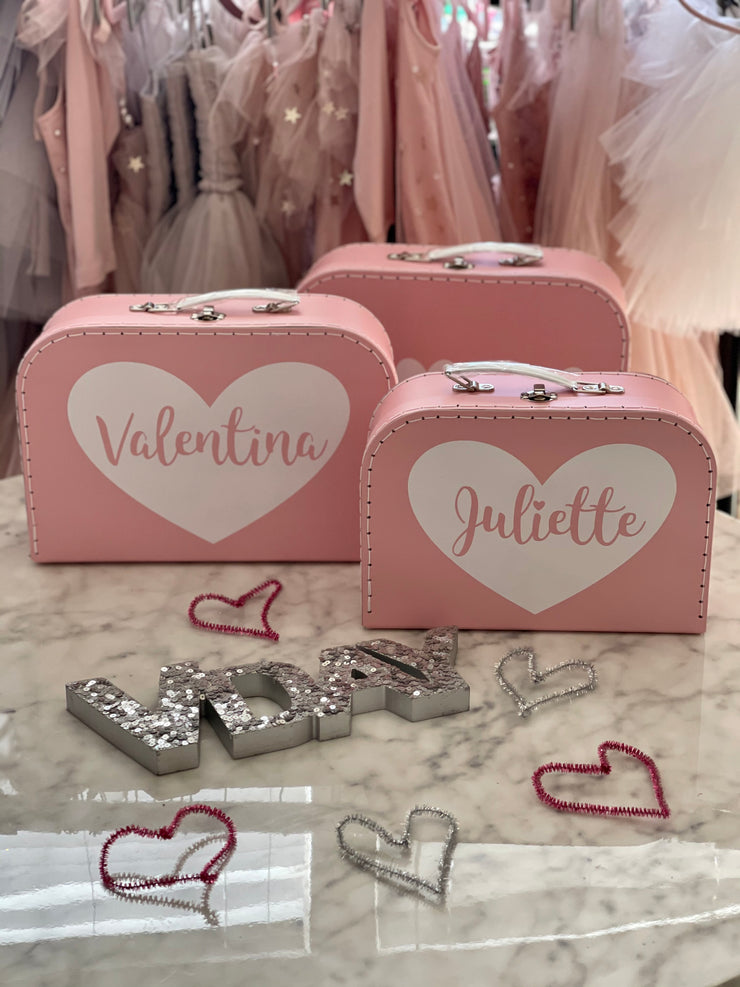 SweetHEART Personalized Suitcase Box (25% off with code HAPPY21)