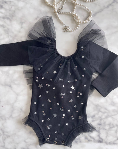 Stardust Leotard Black (Baby and Big Girl)