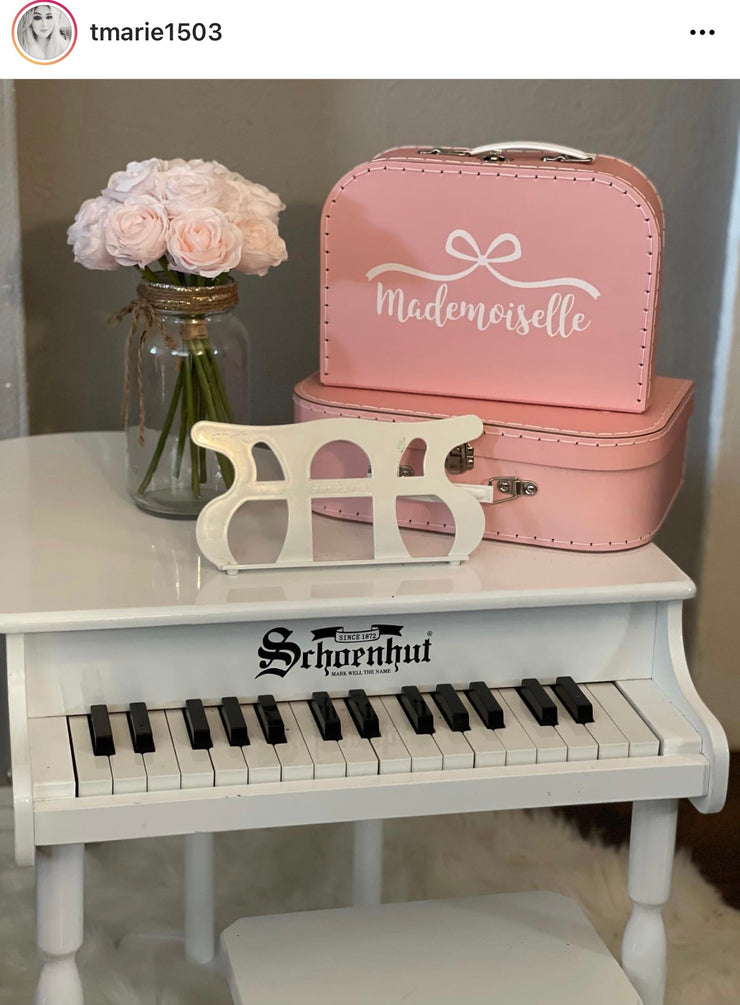 Mademoiselle Bow Personalized Suitcase Box (25% off with code LOVE21)