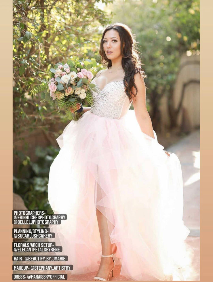 Bustled Adult Tulle Skirt with Slit