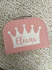 Regal Prince/Princess Personalized Suitcase Box (25% off with code HAPPY21)