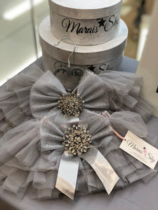 READY TO SHIP - Tutu Étoile Baby Skirt - GRAY