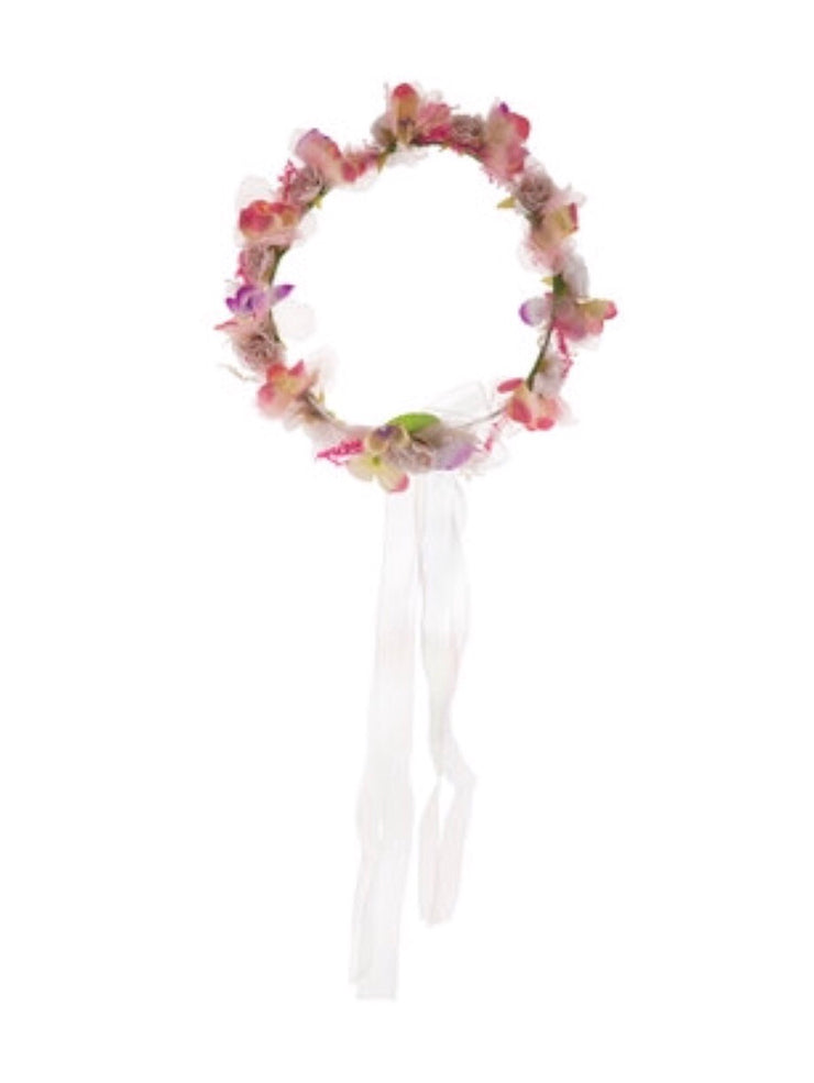 Pink and Lavender Flower Crown