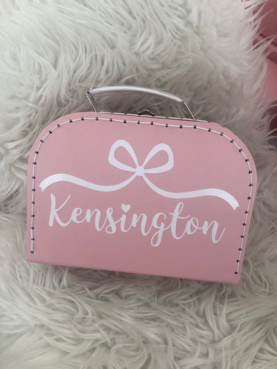 Mademoiselle Bow Personalized Suitcase Box (25% off with code HAPPY21)