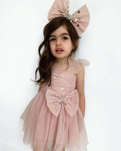 PREORDER - Stardust Bow Dress (Big Girl)
