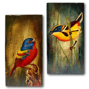 Aves en la Pared - Seis Paneles Intercambiables conforman un Espectacular Mural - 50 x 120 cm