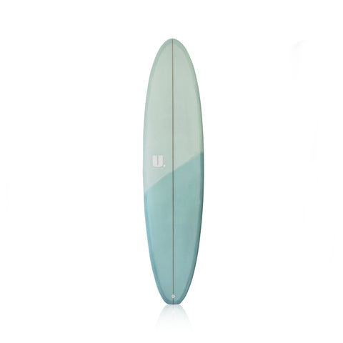 Midlength Mini Mal Surfboard 7'6 Light Blue/Dark Blue