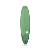 Midlength Mini Mal Surfboard 7'6 Green