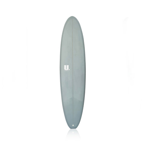 Midlength Mini Mal Surfboard 7'6 Grey