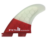 FCS II Accelerator PC Thruster Surfboard Fins Medium Red