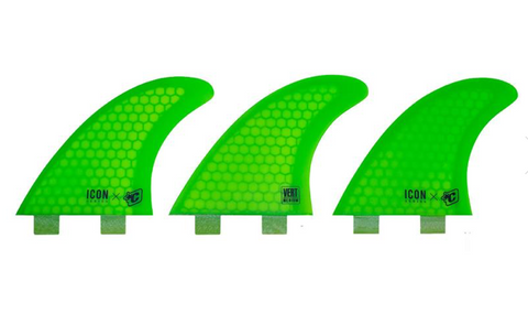 CREATURES ICON VERT MEDIUM FINS - LIME