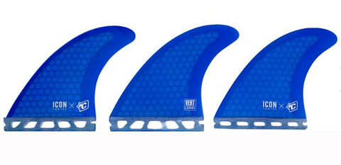 CREATURES ICON VERT LARGE FINS - BLUE