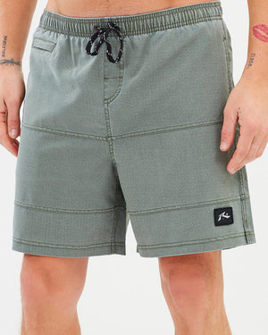 Rusty Jiggy Jigs Elastic Boardshort- Dark Army