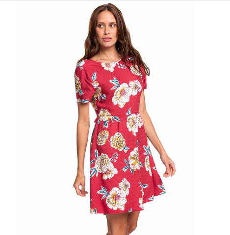 Roxy Womens Hello Cilento Printed Play Dress