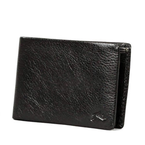 Rusty Leather WalletBust- Black