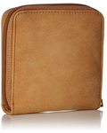 Roxy carry a Heart Square Wallet in Camel