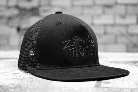 Zombie Tread Black Trucker Cap