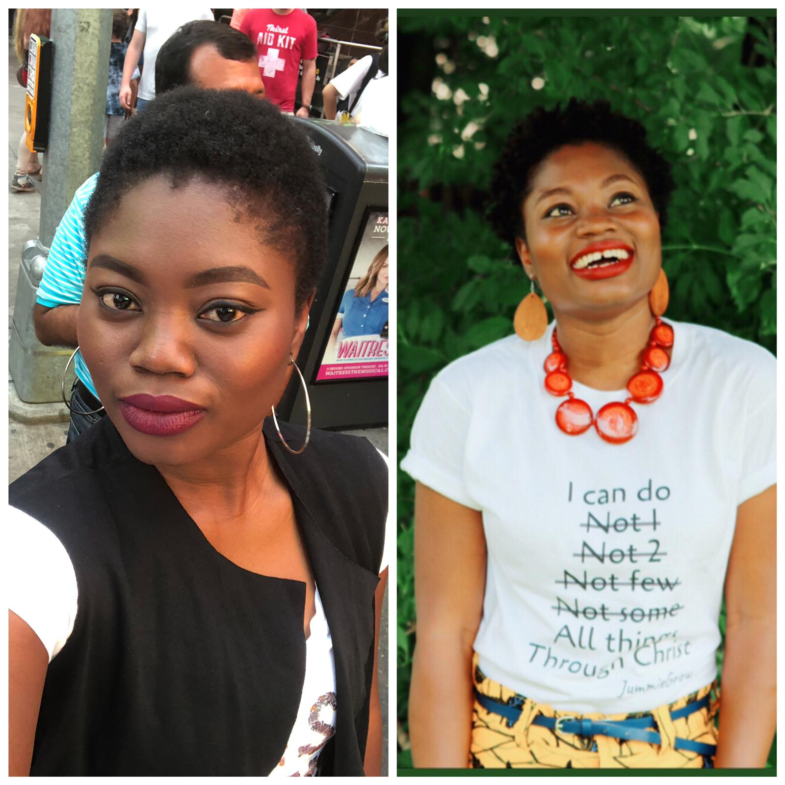 Jummie's growth 1 year after she bigchopped due to postpartum hair loss